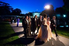 """May 13, 2016 """"The President and First Lady escort the Nordic leaders and their spouses to the State Dinner."""" (Official White House Photo by Chuck Kennedy)"""