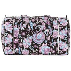 Vera Bradley Large Duffel Bag (4,785 MKD) ❤ liked on Polyvore featuring bags, luggage and alpine floral