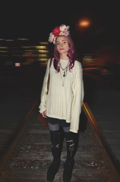 Love sweaters and layers for the transition into spring!     #fashion #style #bohemian #hippie #flowerchild #flowercrown #diy #pinkhair #ombre #purplehair #colorfulhair #flowers #streetstyle #blogger #trends