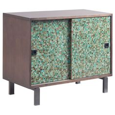 Ink and Ivy (Green) Mosaic Sideboard (.)