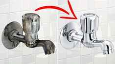 Clean Bathroom Taps - Home Cleaning Routine Bathroom Cleaning Hacks, Household Cleaning Tips, Toilet Cleaning, Deep Cleaning, Shower Taps, Bathroom Taps, Kitchen Taps, How To Clean Metal, Cleaning