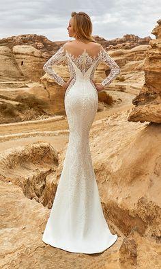 Oksana Mukha Wedding Dresses 2018 Amadea1-1 / http://www.deerpearlflowers.com/oksana-mukha-wedding-dresses-2018/2/
