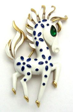 Trifari Horse Brooch Pin 1967 Precious Pets Series Collectible! #Trifari #BroochPin