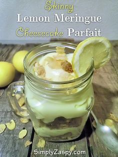 Skinny Lemon Meringue Parfait Recipe! If your looking for delicious alternative to the real thing, give quick 5 minute recipe a try! #healthy #desserts #dessert #recipes