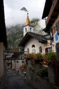 Courmayeur Village in The Summer, Valle d'Aosta, Italy