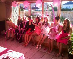 The girls were pinked out at Sophie's Breakfast!