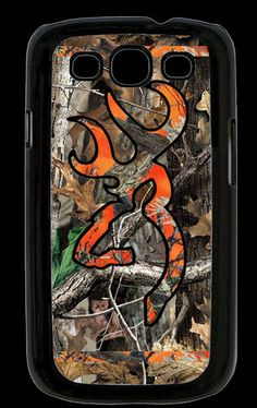 Orange and Camo buck Samsung Galaxy S3 SIII III Case Realtree Black Man Country