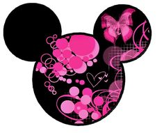 pink butterfly mickey head