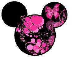 pink butterfly mickey head