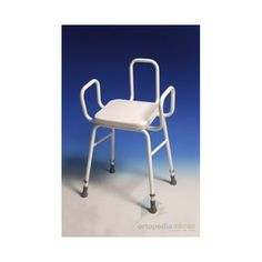 Taburete con Reposabrazos y Respaldo. Taburete con reposabrazos y respaldo con asiento acolchado fabricado con tubos de acero esmaltado