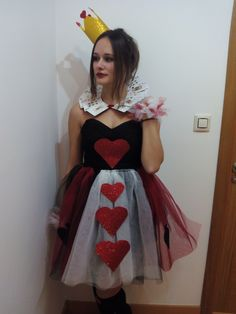 DIY disfraz reina de corazones original # DIY queen of hearts costume