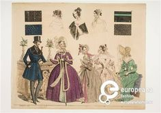 Men's and women's fashion plate, Leipzig, 1837. Courtesy Wien Museum, CC-BY-NC-SA.