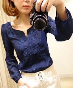 Find More Blouses & Shirts Information about 2013 New Promotions Hot Trendy Cozy Women Shirt Wild Slim Fashion Blouse Elegant Cute Long sleeve Lace Patchwork CS9031,High Quality lace fun,China lace wedding dresses with keyhole back Suppliers, Cheap lace image from Sarah's shoe store on Aliexpress.com
