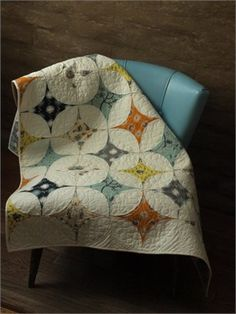 Star Gazer Quilt Kit {fabricworm} - I love that the prints are in what is usually the negative space