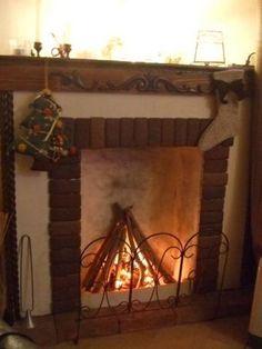 I made fake fireplace