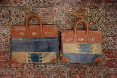 Kilim travel bags!  Handmade in Morocco - Ann Singh Collection | www.annsingh.com