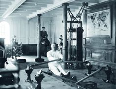Titanic - Lazer: academia com modernos equipamentos de ginástica; depois, ida ao banho turco.