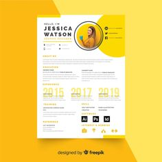 Curriculum vitae template with photo Free Vector Walaa Hasan Modern Resume Template, Resume Design Template, Resume Templates, Design Resume, Creative Cv Template, Flyer Template, Curriculum Vitae Template Free, Cv Curriculum Vitae, Conception Cv