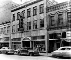 WHO Radio studios, 1100 block Walnut Street, downtown Des Moines, early 1950's