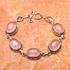 'Natural Rose Quartz Bracelet' is going up for auction at  4pm Thu, Jun 28 with a starting bid of $5.