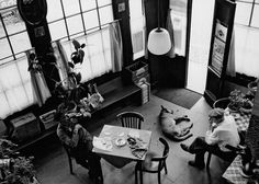 1960's. A view inside café Papeneiland at the Prinsengracht in Amsterdam. Photo Dolf Toussaint. #amsterdam #1960 # Prinsengracht #Jordaan