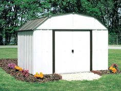 My metal shed redo our yard creative spaces using for Garden shed 5x7