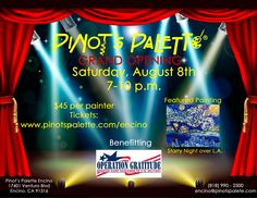 Support Operation Gratitude at the grand opening of Pinot's Palette in Encino, CA!