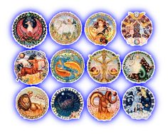 """The Zodiac is a notion in astrology that refers to the path of the Sun across the celestial sphere in one year, also called the circle of twelve divisions of celestial longitude. This twelve divisions have been called """"signs"""" across history and have been attributed different symbols, as you will see in our following descriptions. We prepared for you temporary tattoos with the symbols of all twelve signs, stylized in a special manner."""