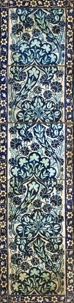 A William de Morgan framed tile panel Circa 1880