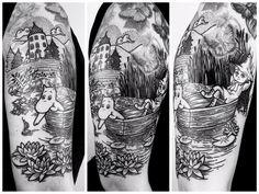 Follow @inkedmagz for future updates! More pictures of my favorite tattoo I did this year.  #tattoo#ink#tattoolookbook#tattooart#tattoodesign#illustrationtattoo#linework#blackwork#lineart#artwork#moomintattoo#moomin#mumin#snufkin#finland#tattoodesign#armtattoo#instaart#blackworkerssubmission#instadaily#igdaily#instagood#tattooartist#berlin#goldengooselab#lordenstein#black#dotwork#girlswithtattoos by lordenstein