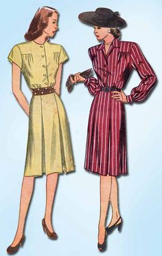 Excited to share the latest addition to my #etsy shop: 1940s Vintage Simplicity Sewing Pattern 1526 WWII Misses Shirtwaist Dress Sz 12 http://etsy.me/2BRApnH #patterns #sewingpatterns #missespatterns #1940spatterns #ladiespattern #vintagepattern #dresspattern #simplici