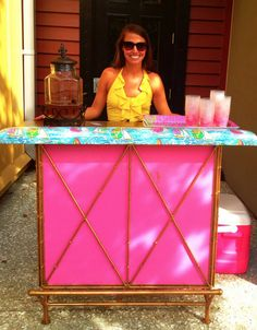 BID DAY lilly juice stand