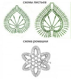 Meu Mundo Craft: Margaridas, as minhas queridinhas... Crochet Diagram, Freeform Crochet, Crochet Motif, Irish Crochet, Crochet Toys, Crochet Leaves, Crochet Flowers, Crochet Patterns For Beginners, Crochet Blanket Patterns