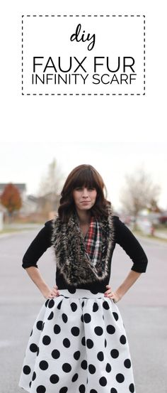 plaid lined faux fur infinity scarf | see kate sew | Bloglovin'