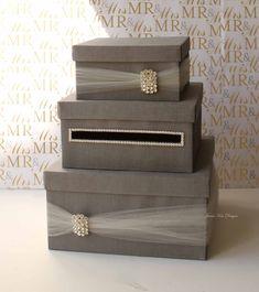 Wedding Card Box Money Box Wedding Gift Card Money Box - Custom Made to Order - beautiful card box - Money Box Wedding, Wedding Gift Boxes, Wedding Cards, Wedding Gifts, Wedding Ideas, Trendy Wedding, Diy Wedding, Wedding Reception, Handmade Wedding