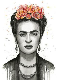 frida kahlo paintings Frida Kahlo portrait Watercolor Art Print, Frida Kahlo art Art, Frida Kahlo painting giclee Print, Giclee Art Print of my original watercolor painting of Fri Frida Kahlo Tattoos, Frida Kahlo Portraits, Frida Kahlo Prints, Watercolor Art Paintings, Watercolor Portraits, Encaustic Painting, Fridah Kahlo, Sketch Style, Frida Art