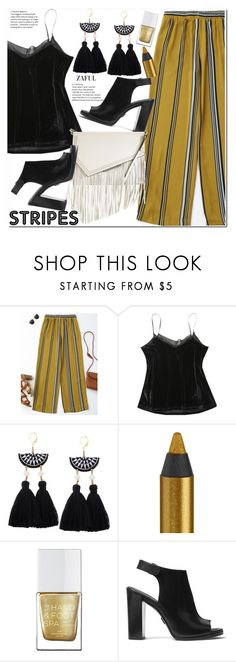 """Strong Stripes: Graphic Striped Pants"" by duma-duma ❤ liked on Polyvore featuring Urban Decay, The Hand & Foot Spa, Michael Kors and Kendall + Kylie"