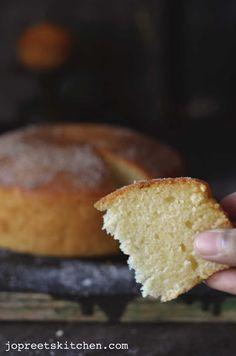 Lemon Sponge Cake (Egg-less & Butter-less) by jopreetskitchen.com