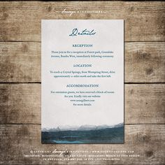 Outdoor Night Sky Wedding Invitation Details by Soumya's Invitations