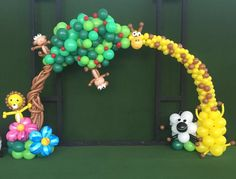Safari Theme Balloon Arch In Singapore http://www.theballoonthing.com/balloon-decorations/balloon-arch-decoration/