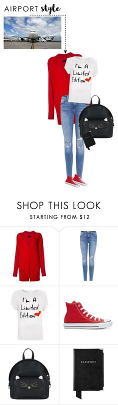 """airport style"" by ecem1 ❤ liked on Polyvore featuring RtA, Frame, WearAll, Converse, Accessorize, Aspinal of London and plus size clothing"