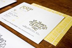 Hand Lettered Wedding Invitations by Molly Jacques via Oh So Beautiful Paper (8)