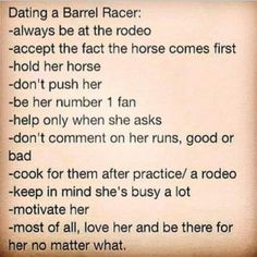 Keep calm and date a barrel racer! ✌