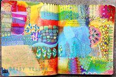 Doodles + Doodles +Doodles - daisy yellow - create explore paint { color