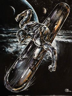 Silver Surfer Embrace the limitless, in Jean-Louis S's Reproductions Gouaches Comic Art Gallery Room Marvel Comics Art, Marvel Comic Books, Comic Book Heroes, Marvel Characters, Marvel Heroes, Comic Books Art, Comic Book Characters, Comic Art, Spiderman Venom