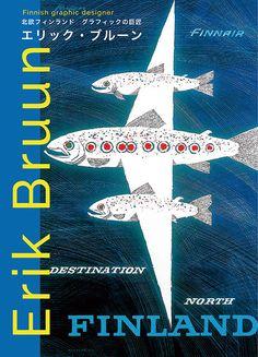 """Book cover of """"Erik Bruun: Finnish Graphic Designer"""""""
