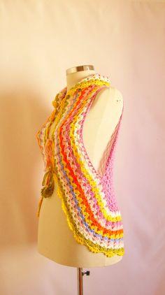 #fashion #gift #april #new #season #woman #women #spring #shawl #handmade #scarves #scarf #handbag #bag #crochet #knitting #etsy #salewinter vest stole shawl gown summer spring by modelknitting, $53.00