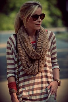 love the brown stripes, so basic but classic looking
