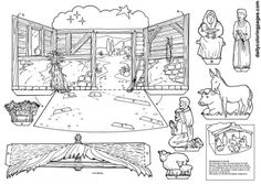 Best Nativity Crafts Ideas......make a diorama or a mobile with printables.