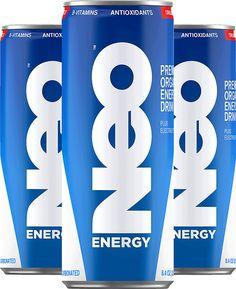 Diseño de empaque Neo Energy (simple, directo, actual)
